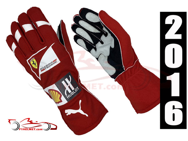 Kimi Raikkonen 2016 Replica Racing Gloves / Ferrari F1