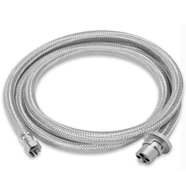 "Braided Gas Hose Bayonet to 3/8""SAE - 2m"