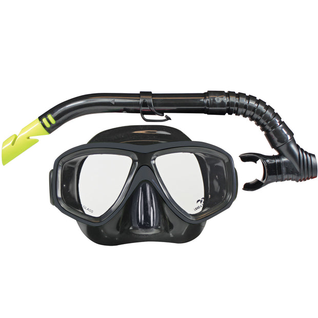 Clearwater Mask & Snorkel Set - Black Silicone