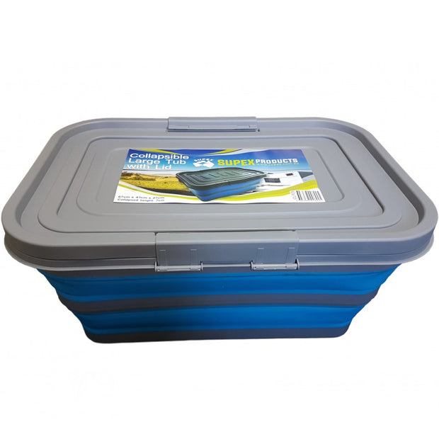 Large Collapsible Tub with Lid