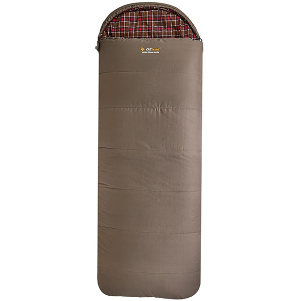 Cotton Canvas Jumbo Hooded -7°C Sleeping Bag