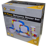 16pc Melamine Dinner Set