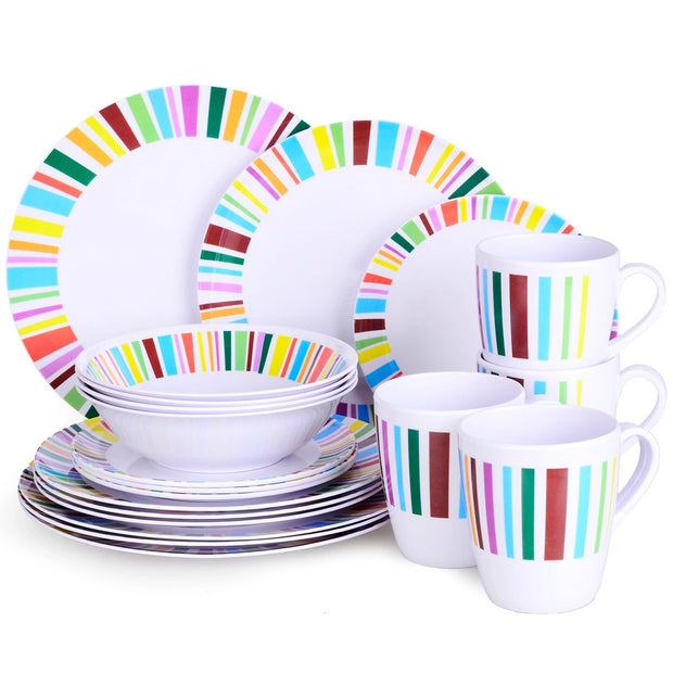 20 Piece Melamine Dinner Set