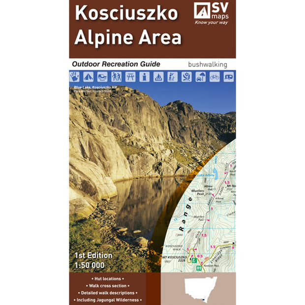 Kosciuszko Alpine Area Map and Outdoor Recreation Guide