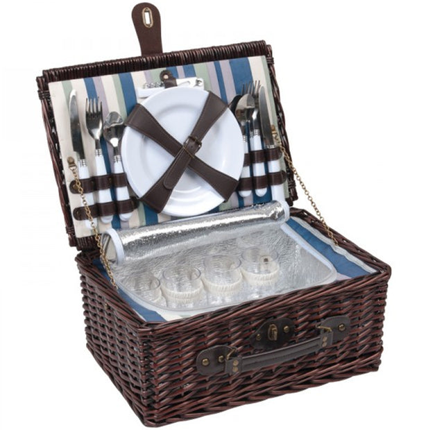 Wicker 4P Picnic Cooler Set