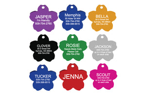 Flower Pet ID Tags