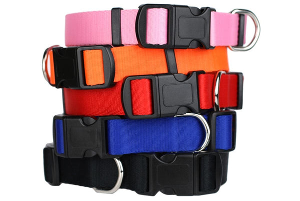 GoTags Adjustable Dog Collar with Quick Release Snap Buckle