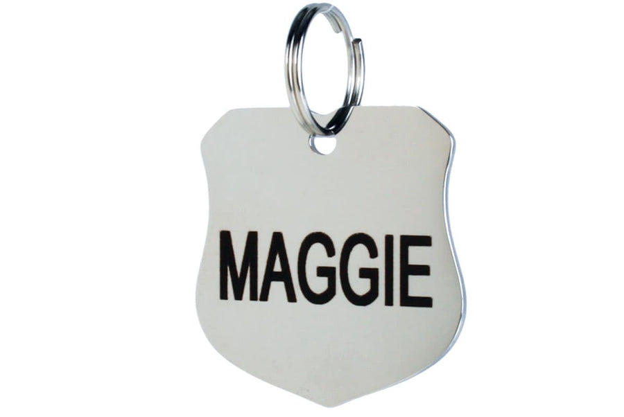 GoTags Badge Shape Stainless Steel Pet ID Tag
