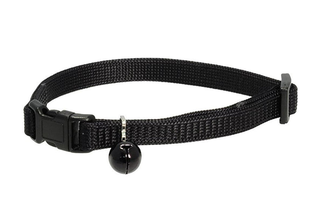 GoTags Black Breakaway Cat Collar with Bell