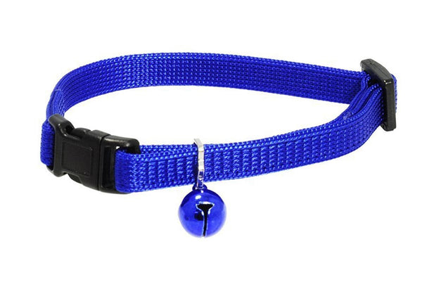 GoTags Breakaway Blue Cat Collars with Bell