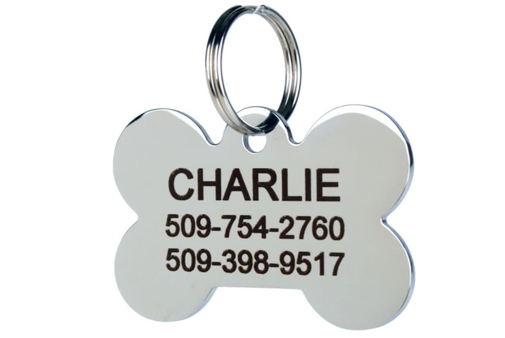 GoTags Bone Shape Stainless Steel Dog Tag