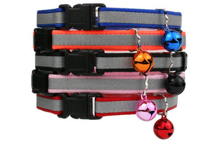 GoTags Breakaway Reflective Cat Collars with Bell