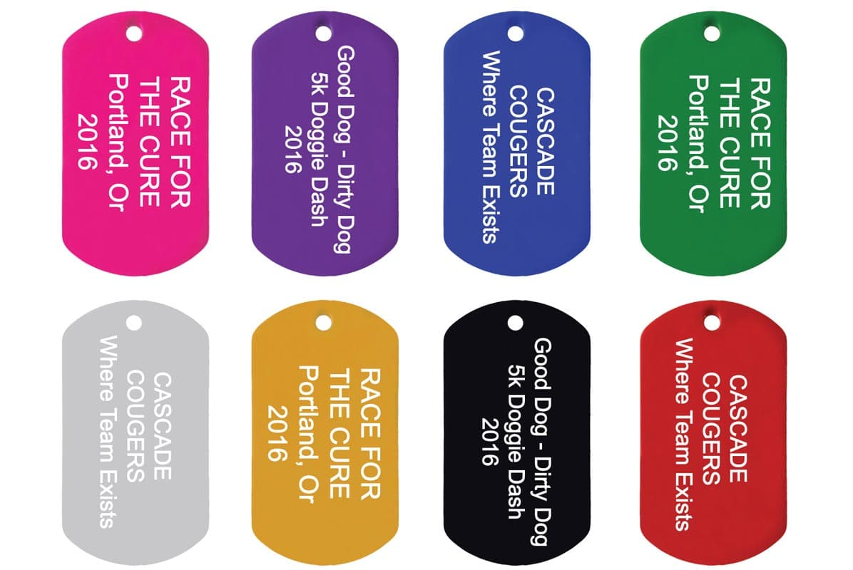 GoTags Bulk Custom Dog Tags for Men and Women Personalized Engraved