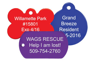 GoTags Custom Dog Tags Bulk Backside Engraving