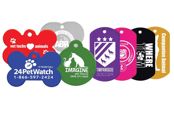 GoTags Custom Logo Dog Tags Engraved Bulk