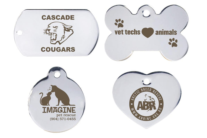 GoTags Custom Logo Dog Tags in Stainless Steel Engraved Bulk