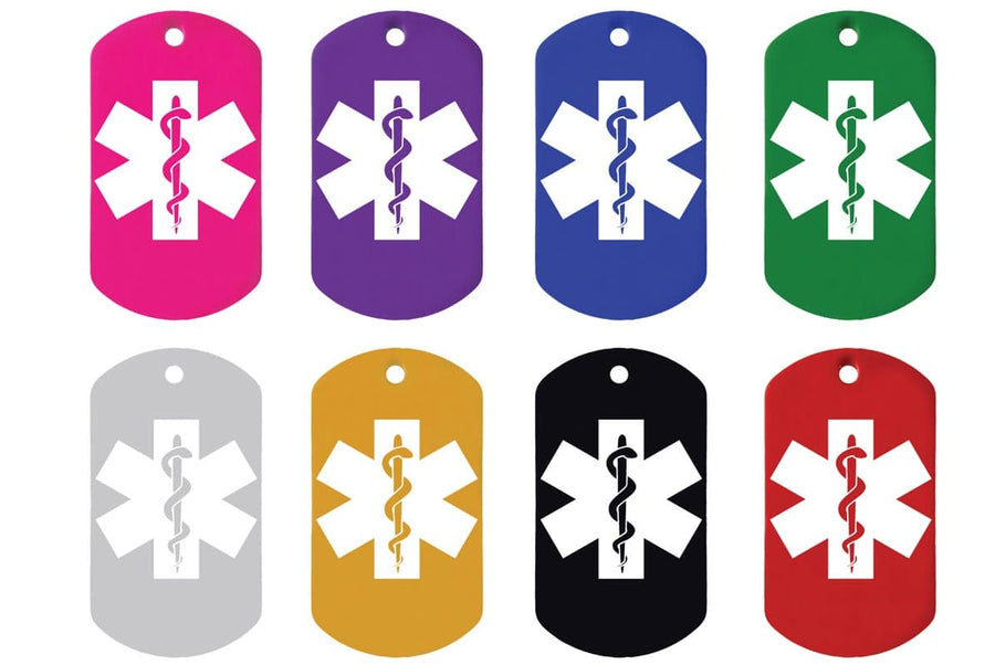 GoTags Personalized Medical Alert ID Tag Necklaces