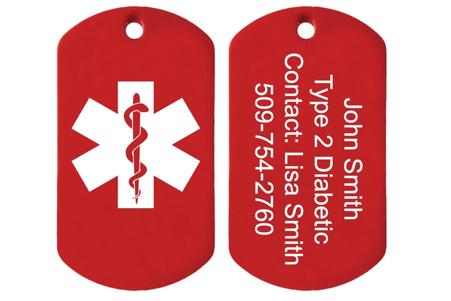 GoTags Personalized Medical Alert ID Tag Necklace