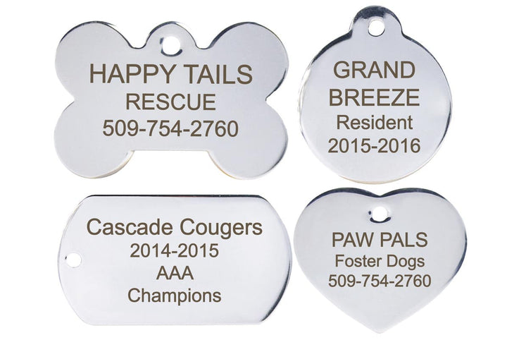 GoTags Custom Stainless Steel Pet Tags Personalized Engraved Bulk Wholesale