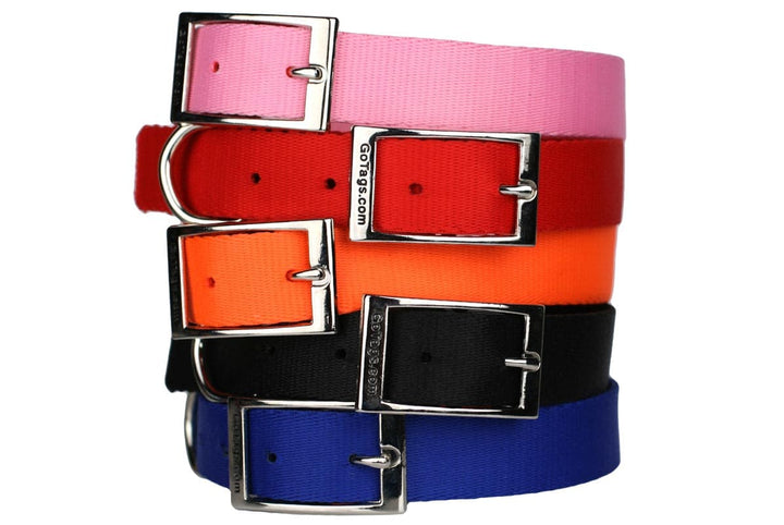 GoTags Nylon Dog Collars with Metal Buckle