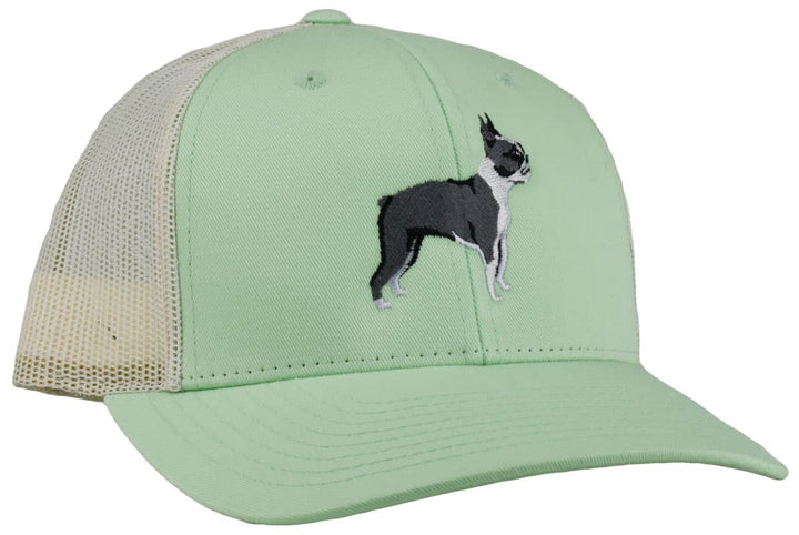 GoTags Boston Terrier Trucker Hats, Baseball Cap Embroidered with Boston Terrier Dog, Mesh Sides