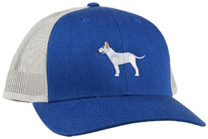GoTags Bull Terrier Trucker Hats, Baseball Cap Embroidered with Bull Terrier Dog, Mesh Sides