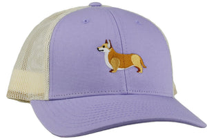 GoTags Corgi Trucker Hats, Baseball Cap Embroidered with Corgi Dog, Mesh Sides