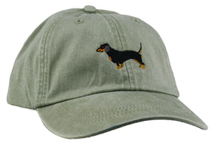 GoTags Dachshund Baseball Cap,  Soft Twill Dad Hat Embroidered with Dachshund Dog