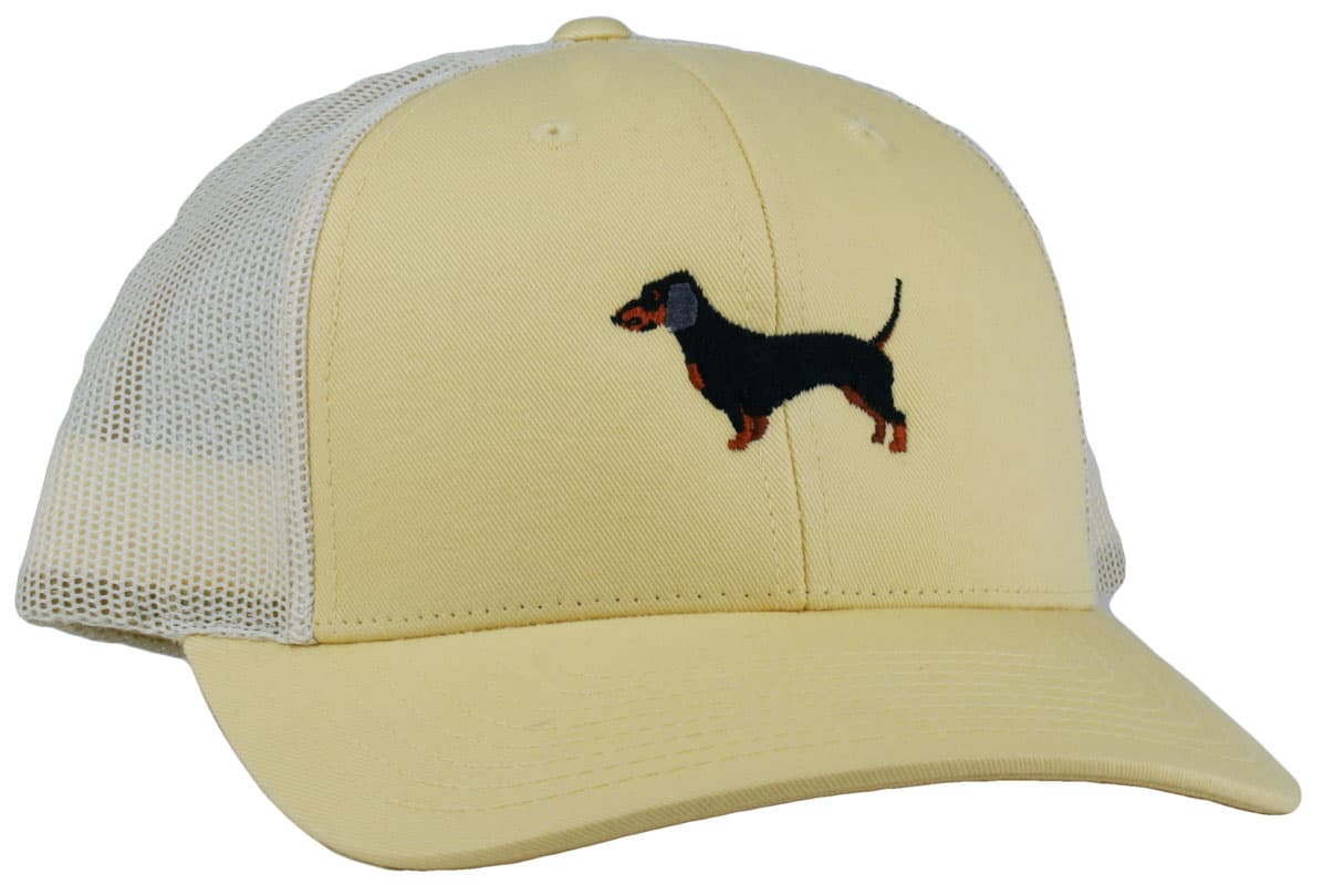 GoTags Embroidered Dachshund Truckers Caps