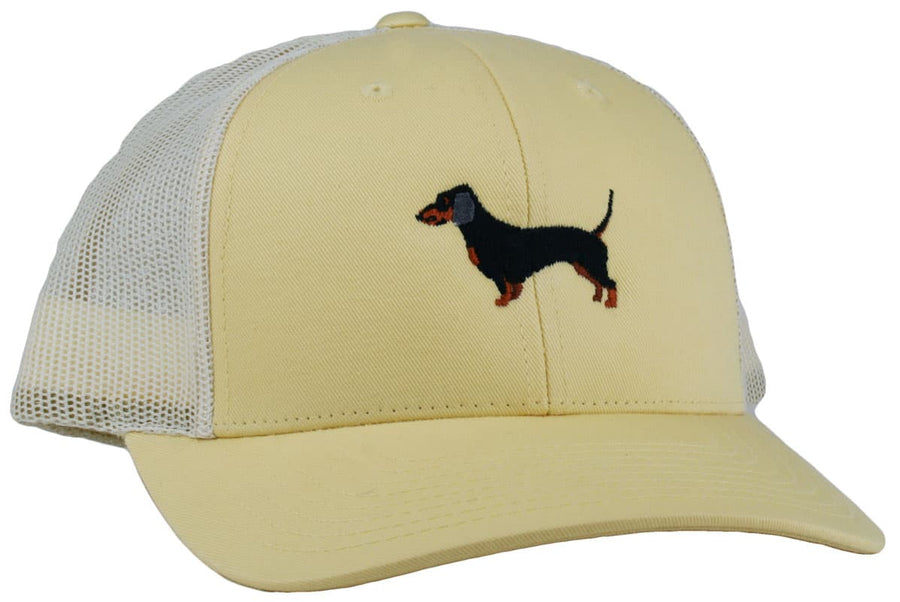 GoTags Dachshund Trucker Hats, Baseball Cap Embroidered with Dachshund Dog, Mesh Sides