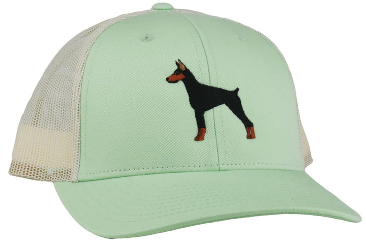GoTags Embroidered Doberman Trucker Cap