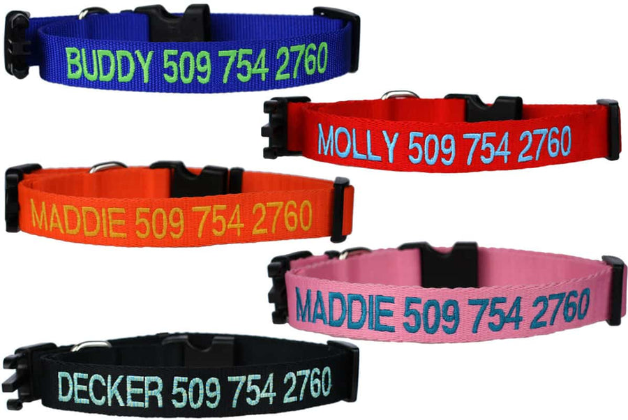 GoTags Personalized Embroidered Dog Collars with Name