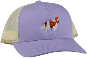 GoTags Cavalier King Charles Trucker Hats, Baseball Cap Embroidered with King Cavalier Dog, Mesh Sides