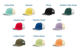 GoTags Embroidered Trucker Cap Colors