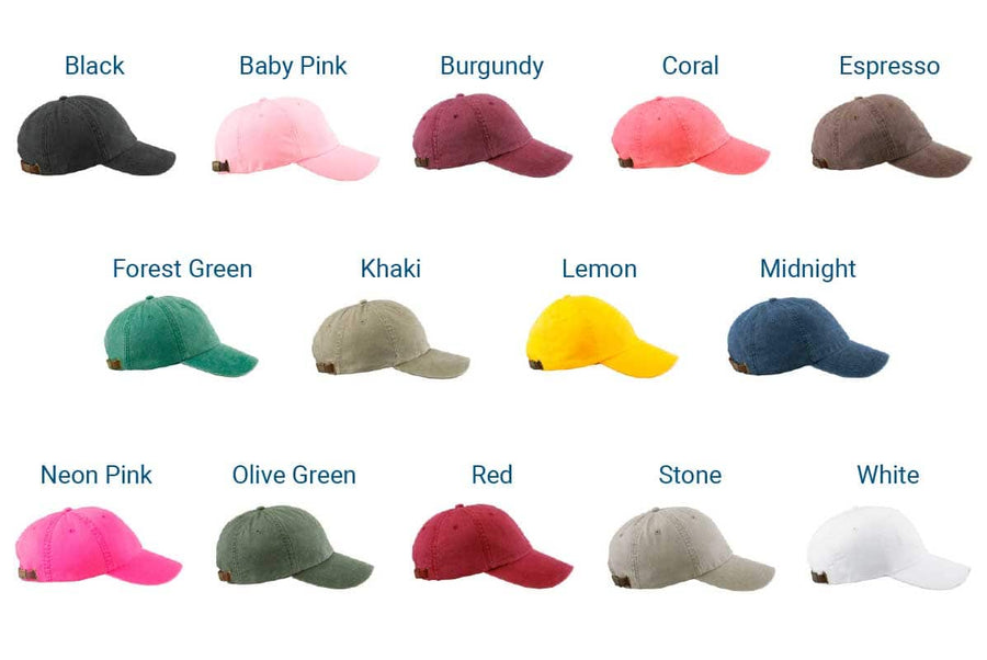GoTags Embroidered Twill Baseball Cap Colors
