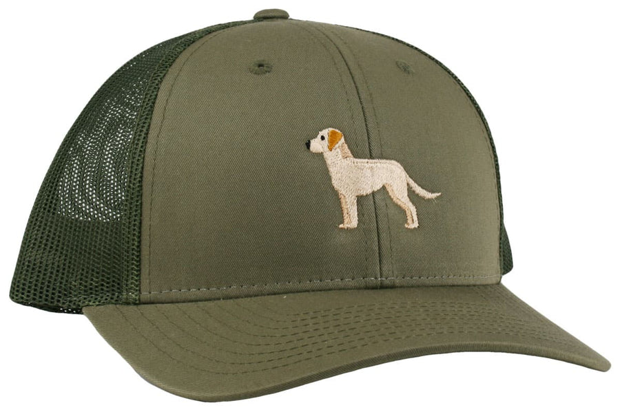 GoTags Yellow Lab Trucker Hats, Baseball Cap Embroidered with Yellow Lab Dog, Mesh Sides