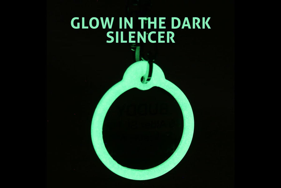 GoTags Glow in the Dark Pet Tag Silencer