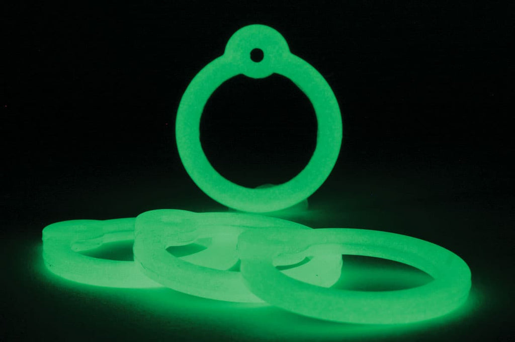 GoTags Glow in the Dark Round Pet Tag Silencers for Dogs and Cats
