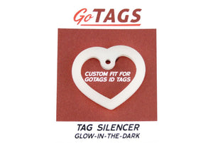 GoTags Heart Shape Dog Tag Silencer