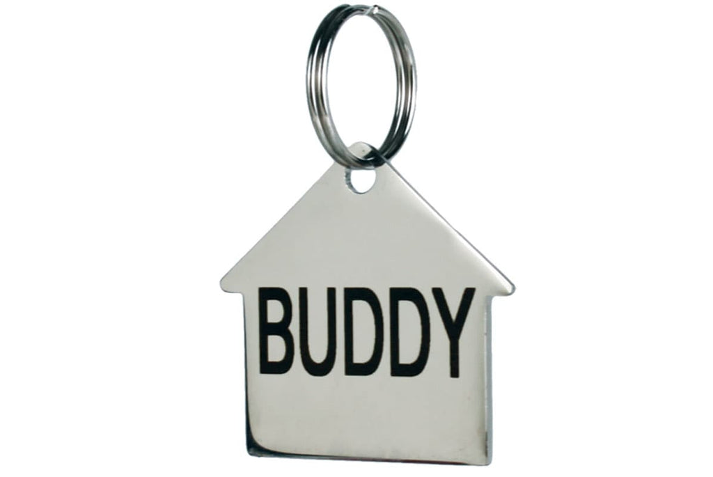 GoTags House Shape Stainless Steel Pet ID Tag