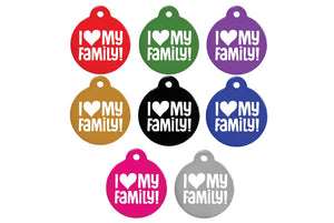 GoTags I Love My Family Pet ID Tags Personalized Engraved
