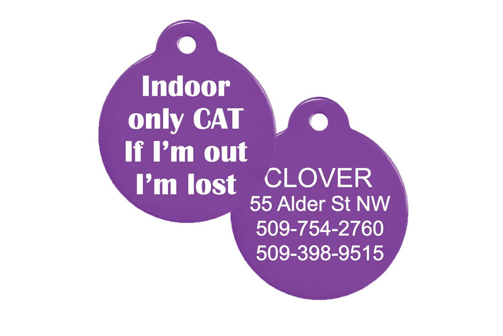 GoTags Indoor Cat ID Tags Personalized Engraved