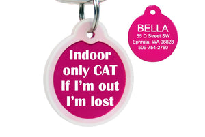 GoTags Indoor Only Cat ID Tags Personalized Engraved