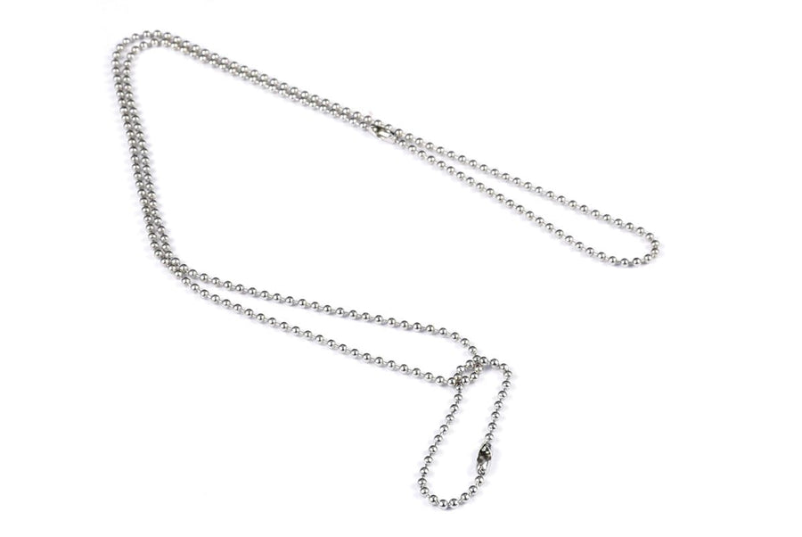 GoTags Military Dog Tag Ball Chain Necklace Set, 28 inch and 4 inch Chains