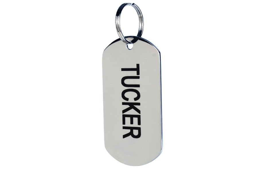 GoTags Military Dog Tag for Dogs, Made of Stainless Steel, Personalized