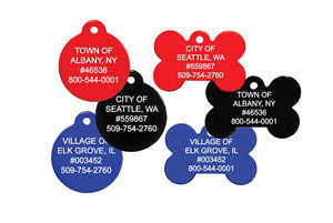 GoTags Bulk Municipal City Pet License Tags Wholesale
