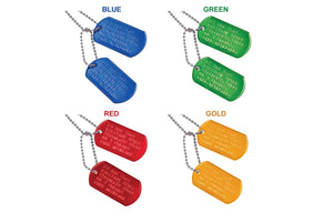 GoTags Personalized Embossed Military Necklace Set with Ball Chains