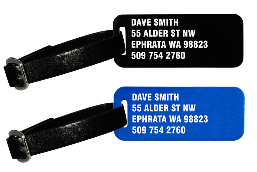 GoTags Engraved Metal Personalized Luggage Tags