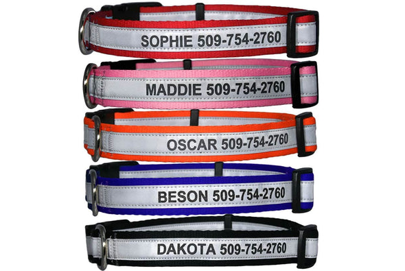 GoTags Personalized Dog Collar Engraved with Name and Phone Number, Dog Collar with Quick Release Snap Buckle
