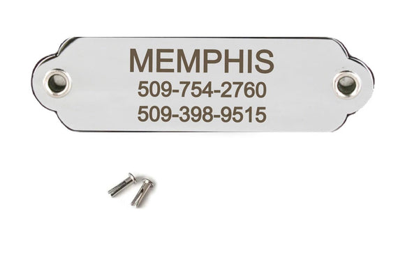 GoTags Personalized Stainless Steel Dog Collar Nameplate with Rivets, Dog ID Name Plate Personalized